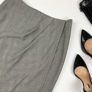 MaxMara wool pencil houndstooth skirt size 8